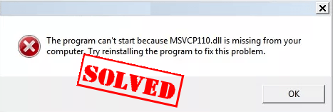 Fix msvcr110.dll related errors in Windows 7, 8 or 10